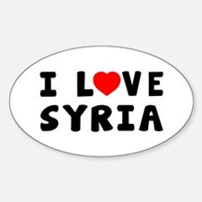 I Love Syria Sticker (Oval)