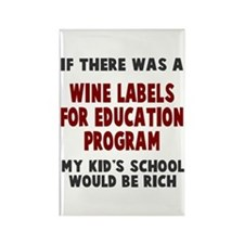 Wine Labels Education Rectangle Magnet