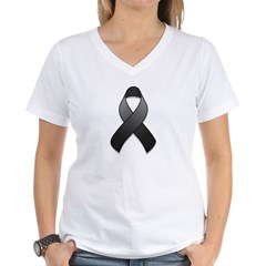 Black Awareness Ribbon Shirt