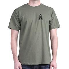 Black Awareness Ribbon T-Shirt