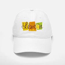 Retro Lemon Logo FINAL Baseball Baseball Cap