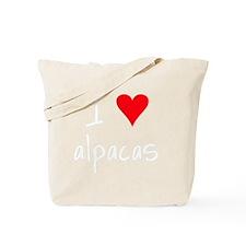 iheartalpacas_black Tote Bag