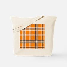 showercurtainorangeplaidpng Tote Bag