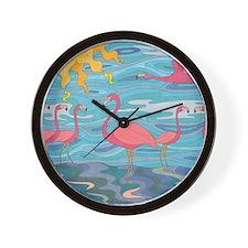 Seeing Pink Wall Clock