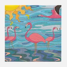 Seeing Pink Tile Coaster