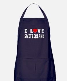 I Love Switzerland Apron (dark)