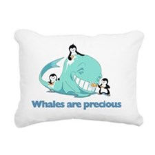 Whales_are_precious Rectangular Canvas Pillow