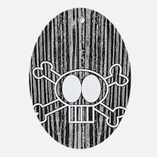 skullcrossbones itouch4 Oval Ornament