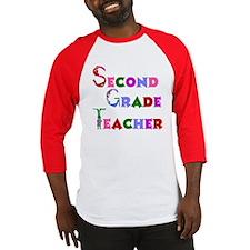 2nd Grade School Teacher Baseball Jersey