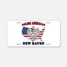 New Haven Connecticut Polish Aluminum License Plat