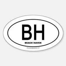 Beach Haven Oval Decal