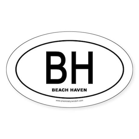Beach Haven Oval Sticker