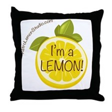 Im A Lemon Button Throw Pillow