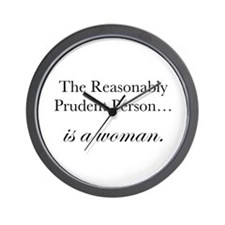 Reasonably Prudent Person Wall Clock