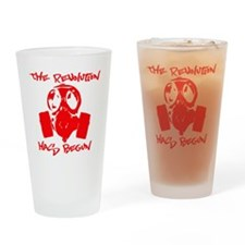 rEVOLution red Drinking Glass