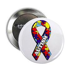 Autism Awareness Ribbon Button