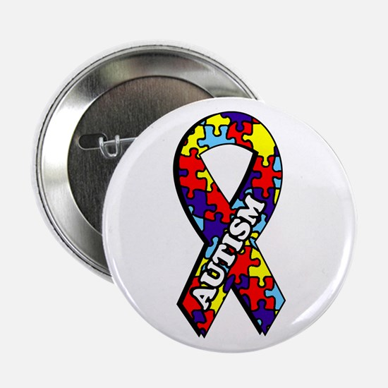 Autism Awareness Ribbon Button