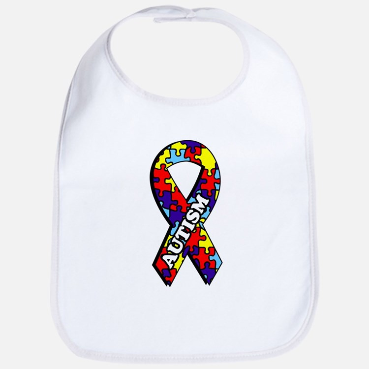 Autism Awareness Ribbon Bib
