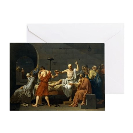 death of socrate14x10 Greeting Card