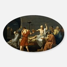 death of socrate14x10 Decal