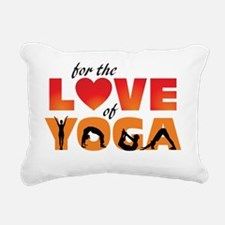 For The Love of Yoga Rectangular Canvas Pillow