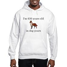 90 birthday dog years collie Hoodie