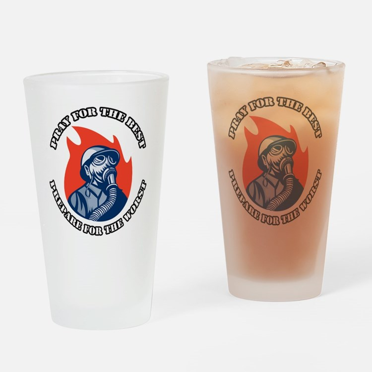 Preppers 2 Drinking Glass