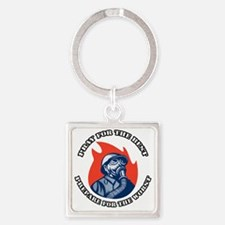 Preppers 2 Square Keychain