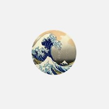 great wave shower Mini Button