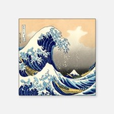 """great wave shower Square Sticker 3"""" x 3"""""""