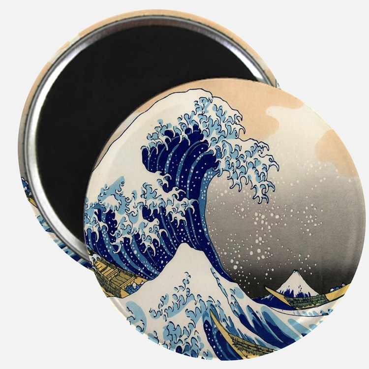 great wave shower Magnet