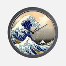 great wave shower Wall Clock