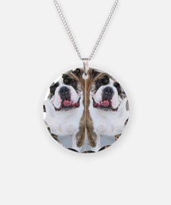 bulldog flip flops Necklace