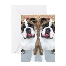 bulldog flip flops Greeting Card