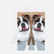 bulldog flip flops Greeting Card