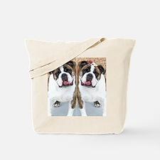bulldog flip flops Tote Bag