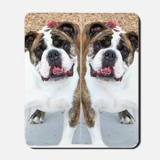 bulldog flip flops Mousepad