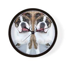 bulldog flip flops Wall Clock