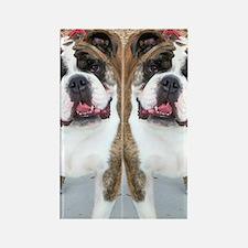 bulldog flip flops Rectangle Magnet