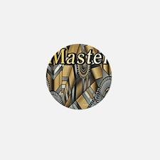 bondage silver grey gold Master design Mini Button