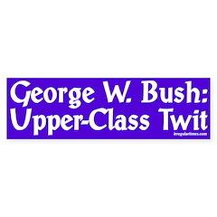 George W. Bush: Upper-Class Twit (sticker)