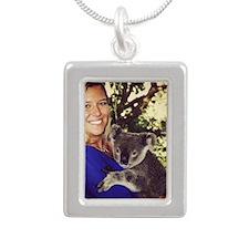 Natalie Silver Portrait Necklace