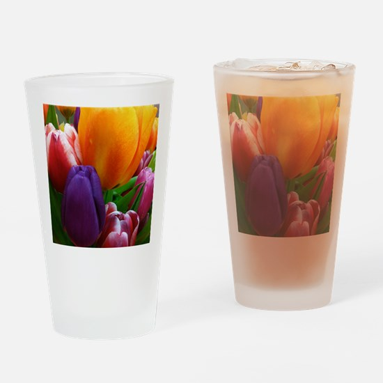 Easter Tulips Drinking Glass