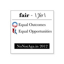 "fairness Square Sticker 3"" x 3"""