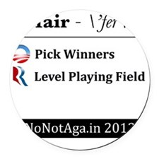 pickwinners Round Car Magnet