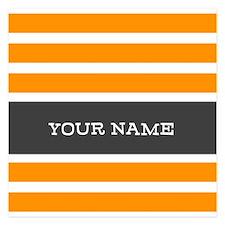 Orange and White Stripes Personalized Invitations x Invitations