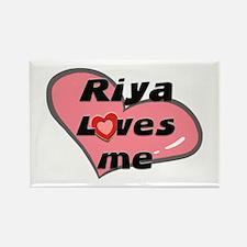 riya loves me Rectangle Magnet