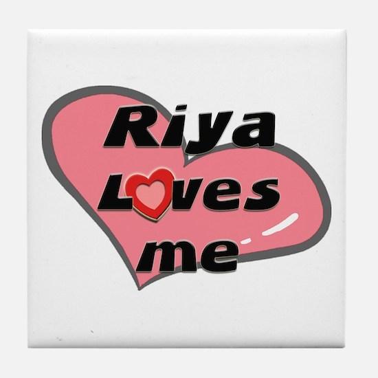 riya loves me  Tile Coaster