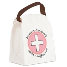 Nursing assist MAKE A DIFF PINK Canvas Lunch Bag