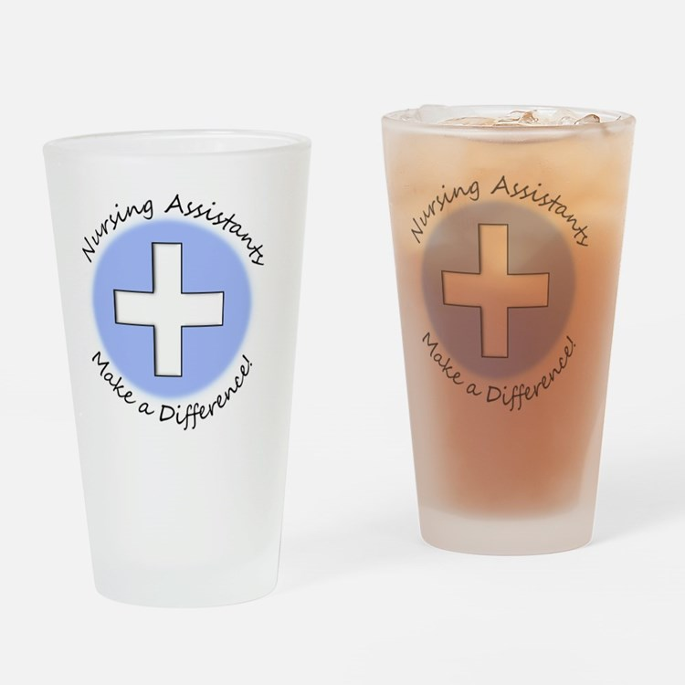 Nursing Assist MAKE A DIFF Drinking Glass